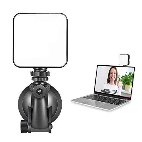 Video Conference Lighting Kit, Laptop Webcam Lighting with Suction Cup, for Photography, Zoom Meeting, Vlogging, Remote Working, Streaming, Self Broadcasting