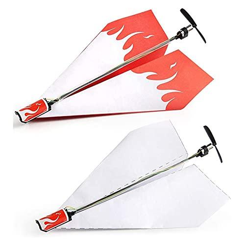 LHZMD Papier Flugzeug Kit Motor Elektro Papier Flugzeug Falten DIY Flugzeug Modell Spielzeug Für Kinder Brain Intelligence Development Elektrisch Gleitendes Papierflugzeug