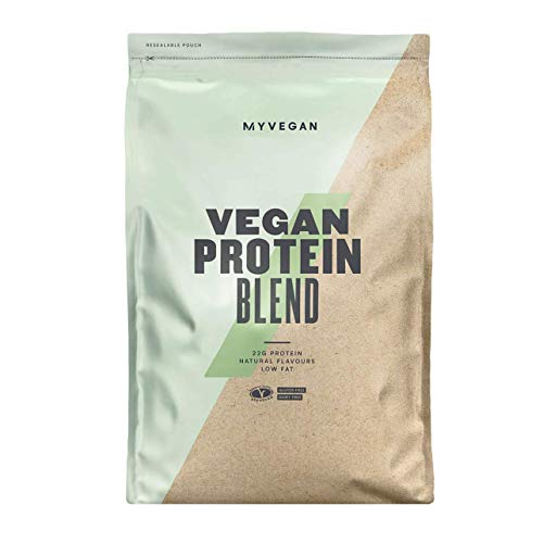 MyVegan Protein Blend by MyProtein. Natural Vegan Protein Powder with 5g of BCAAs. Great Tasting Strawberry Flavoured Plant Based Pea Protein. Gluten-Free and Low in Sugar - 1kg (33 Servings)