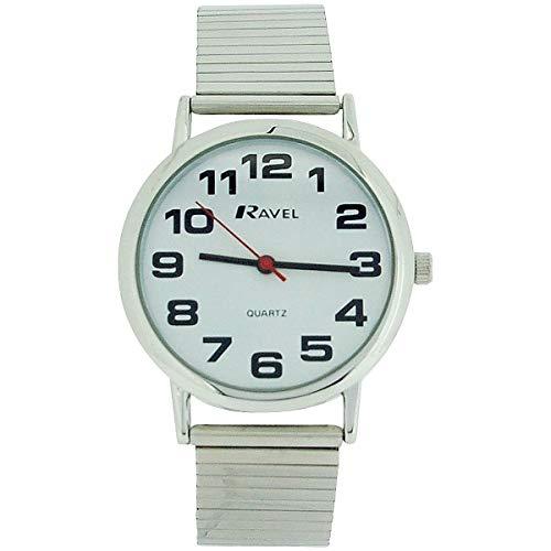 Ravel Reloj de pulsera para caballero, correa extensible, acero Inoxidable dorado, R0208.02.1
