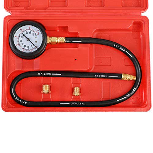 YSTOOL Oil Pressure Tester Kit Professional Oil Pressure Gauge Tool for Engine Diagnostic Test with Hose Adapters and Carry Case for Cars ATVs Trucks Use 0-100psi