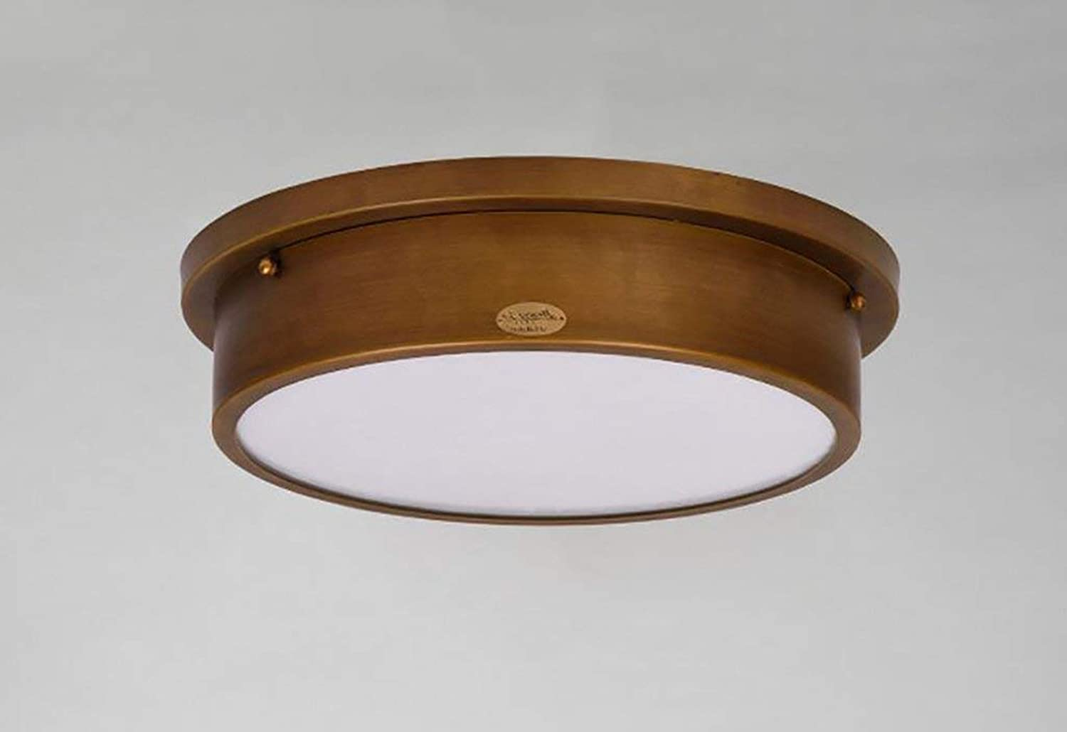 YANG Ceiling Light American Copper Bedroom Study Lamp Retro Iron Three  color Led Ceiling Light Three  color Led Switch
