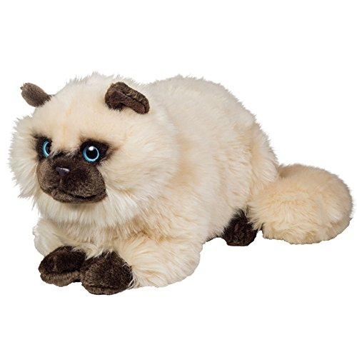Teddy Hermann 918264 Siamkatze liegend Plüsch, bunt, 36 cm