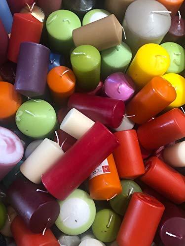 2 KG Kerzen A-Ware, Kerzen aus Kollektion 2020, Markenkerzen aus dt. Herstellung, Kerzen Restposten Sonderangebot