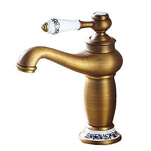 Grifo de Baño Durable con Función de Regulación de Agua Fría y Caliente Grifo de Lavabo cobre de Calidad para Bidé, Ahorra del Agua y Facil de Limpiar,Cromo