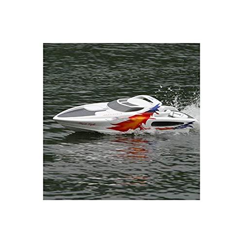 QWERTOUR 1320 × 330 × 400mm RC Boot Tolle weiße Hai-Yacht-Fernbedienung Benzinboot 30cc Benzinmotor Schiff Modell Spielzeug