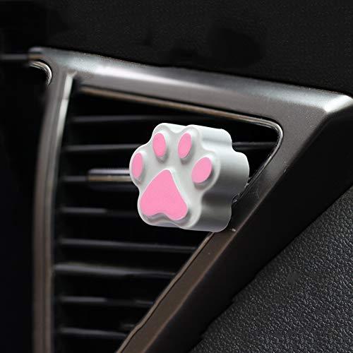ETbotu Auto-parfum-luchtverfrisser karikatuur-huisdier-stijl ontluchtingsopening-auto-interieurdecoratie geur de autoaccessoires verspreidt grijze kattengrijper auto-parfum