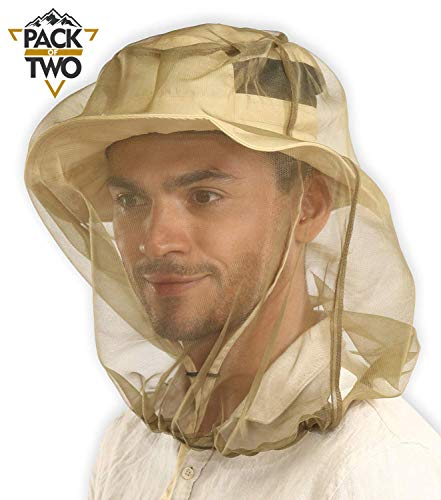 Mosquito Head Net Mesh - Bug Face Netting for Hats - Insect Net Mask Cover from Gnats, No-See-Ums & Midges with Extra Fine Fly Screen Holes - Outdoor Protection / Shield for Men & Women. Chemical Free