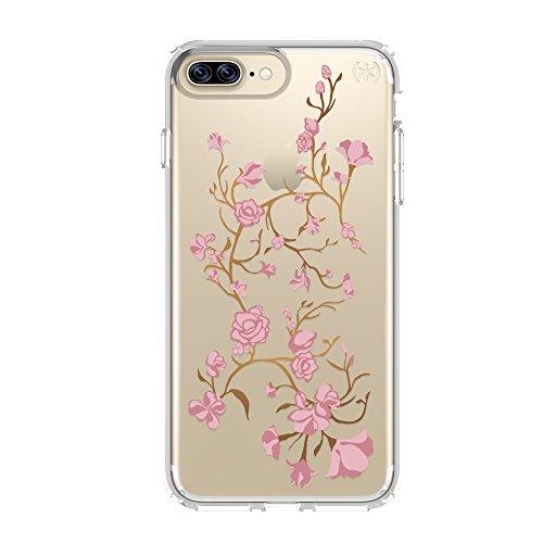 Speck Products Presidio Clear + Capa para celular impressa para iPhone 7 Plus – Rosa dourado/transparente