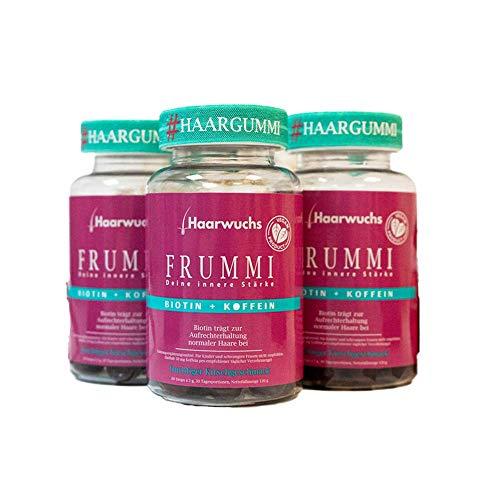 Frummi | Haarvitamine | fördert natürlichen und schnellen Haarwuchs | vermindert Haarausfall | vegan | hochdosiert (3)