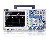 PeakTech Osciloscopio de memoria de 4 canales 100 MHz - Máx. 1 GS/s con USB, interfaz LAN y pantalla TFT a color de 8 pulgadas, profundidad de memoria de 40 millones de puntos, modo FFT y XY, DSO.