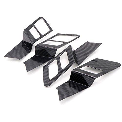 Flying High Garniture intérieure de décoration de Cuvette de Porte latérale de ABS d'ABS pour 4pcs l'accessoire de Voiture ADQ518 (Noir)