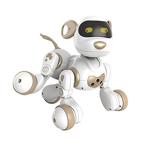 LZXMXR Robot de baile, interactivo inteligente programable recargable del perrito robot de juguete, perro robot bailando Gesto de control eléctrico, regalo de cumpleaños de los niños (Color : Gold)