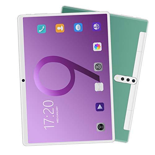 FJYDM Tragbares Tablet 10 Zoll Android Tablet1 GB RAM 16 GB Speicher, Dual-Kamera, Acht-Kern-Prozessor, 720 * 1280 High Definition-Bildschirm, Wi-Fi Bluetooth 3000Mah,Grün