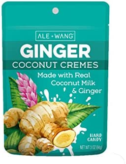 ALE WANG Ginger Coconut Cremes Hard Candy Made with Natural Ginger Juice and 100 Pure Coconut product image