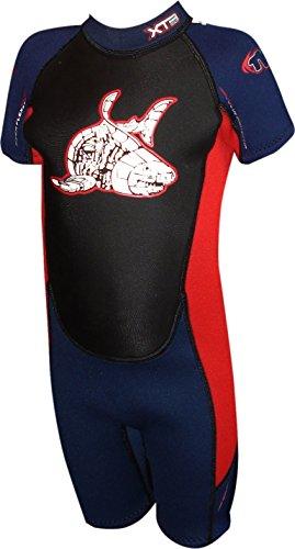 TWF Xt3K02del Kid Corto para Mujer, Infantil, XT3 K02 Shortie, Azul Oscuro y Rojo, 1-2 años