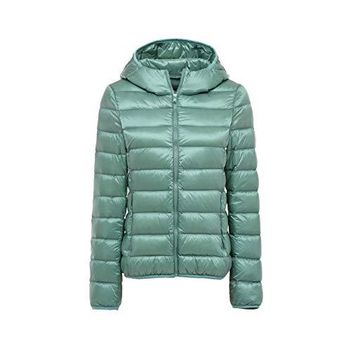 Damen Winter Packable Daunenjacke Leichte Puffer Down Mäntel Winddicht Oberbekleidung Gr. 48, grün