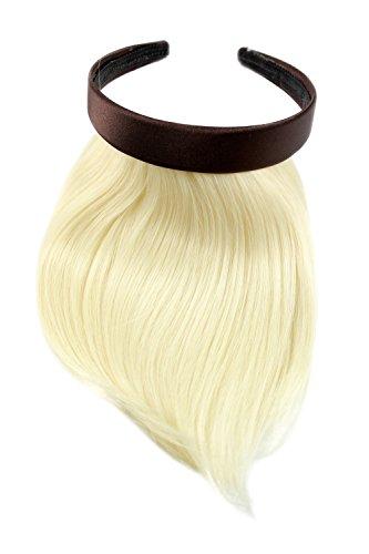 Frange à clipper avec serre-tête pour un effet naturel, blonde platine (613) HA073T-613