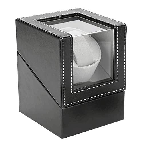 ANTLSZH Reloj Winder Automatic Wristwatch Blinding Box Watches Almacenamiento Caja De Almacenamiento con Motor Mabuchi Silencioso para La Mayoría De Los Relojes De Pulsera