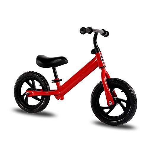 CJW-LC 12' Bicicleta Sin Pedales para Niños De 2-6 Años, Bicicleta De Equilibrio Estructura De Acero con Alto Contenido De Carbono Sillín Ajustable Excelente Regalo para Niños Y Niños Pequeños,C
