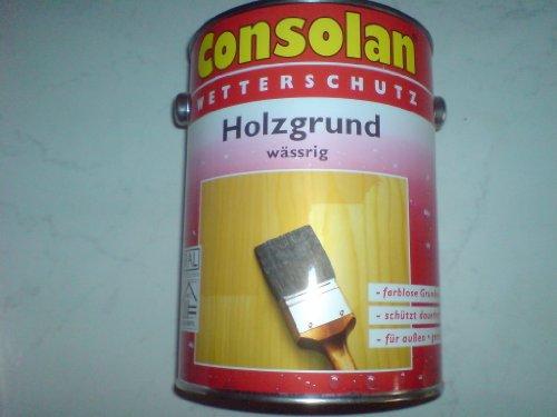 Consolan Wetterschutz Holzgrund wässrig, schützt vor Bläue, 2,5 Liter