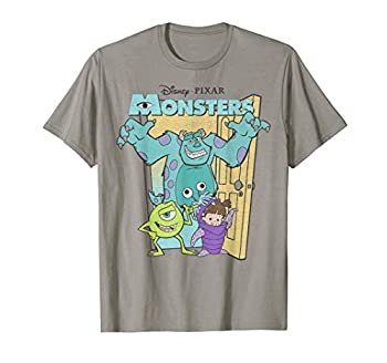 Disney Pixar Monsters Inc Mike Sully Boo Group Poster T-Shirt