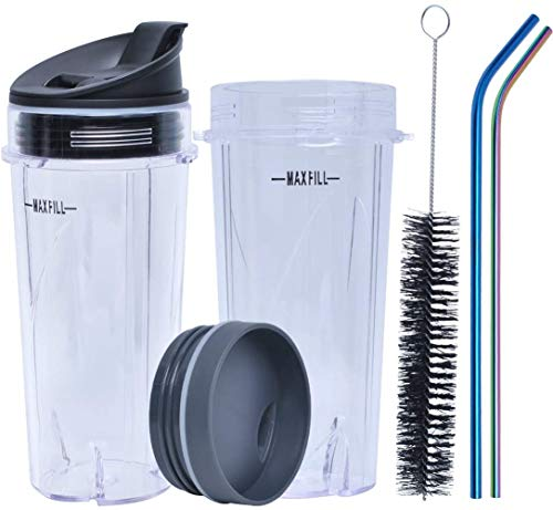 16oz Blender Cup Replacement Compatible with Nutri Ninja Blenders BL660...