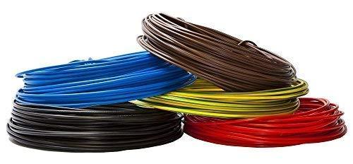 10 Meter Aderleitung - Einzelader flexibel - PVC Leitung - H07V-K 1,5 mm² - Farbe: grün/gelb 10 m