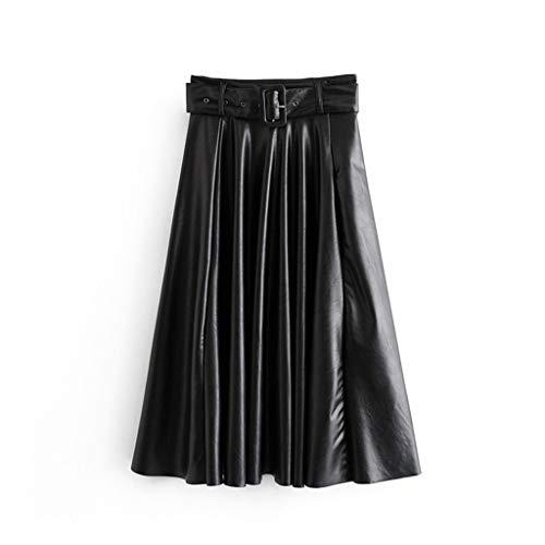 Brizz Damesjurk voor dames, met normale lak, hoge taille, plooien, minirok met puur garen, plissé, voor bruidsmeisjes, lange baljurk, slim fit, elegante herfstjurk