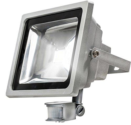 Preisvergleich Produktbild as - Schwabe 46908 Chip LED Strahler mit Bewegungsmelder,  50 W (Gewerbe / Baustelle / Aussenbereich),  230 V,  Watt