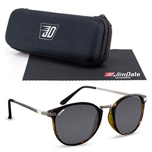 JD Jim Dale Gafas de sol Brady Black con montura de plástico con patillas de metal, protección UV400, para hombre y mujer