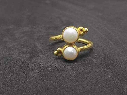 Pinky Ring 925K Sterling Silver Handmade Pearl Ring Silver Dainty Silver By Artsmyrna Minimalist Ring Freshwater Pearl Ring