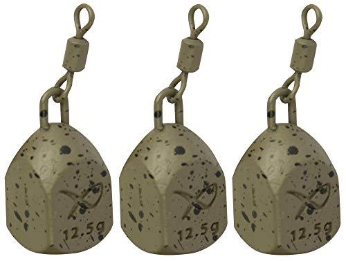 Fox Matrix Bottle Bomb MK2 - 3 Angelbleie zum Angeln auf Friedfische, Bleie zum Friedfischangeln, Grundbleie zum Karpfenangeln, Gewicht:12.5g