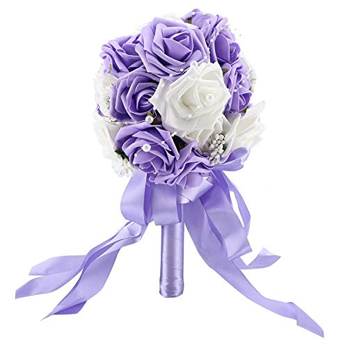 TOPINCN - Ramo de Rosas Artificiales para Novia, Ramo de Flores, para