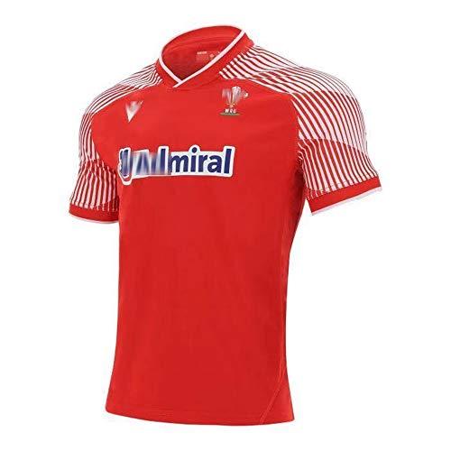 2021 última Camiseta de Rugby de Local y visitante de Gales del Reino Unido para Hombres, Mujeres, niños, Juventud, Camiseta de Rugby de Verano con Logotipos para Regalo de cumpleaños-Home-M