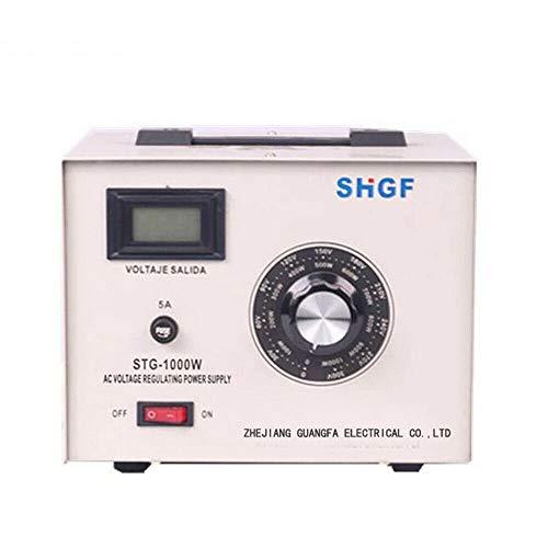 DONNGYZ Variac Autotransformer Voltage Regulator Powerstat 0-300V Output Voltage Transformer Converter Stabilizer Box 10Amp STG-1000W Step Up and Down(US Stock)