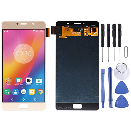 Wangl Lenovo Spare LCD Screen and Digitizer Full Assembly for Lenovo Vibe P2 P2c72 P2a42 (Black) Lenovo Spare (Color : Gold)