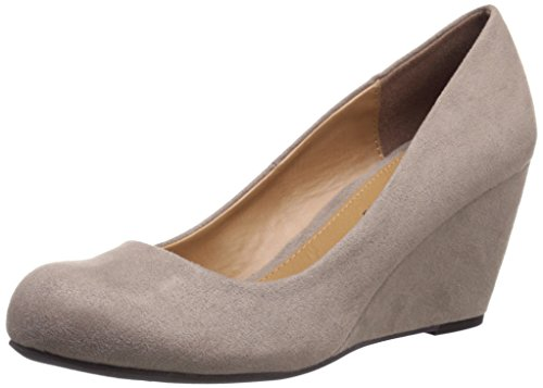 CL by Chinese Laundry womens Nima Wedge pumps shoes, Dark Taupe Super Suede, 7.5 US