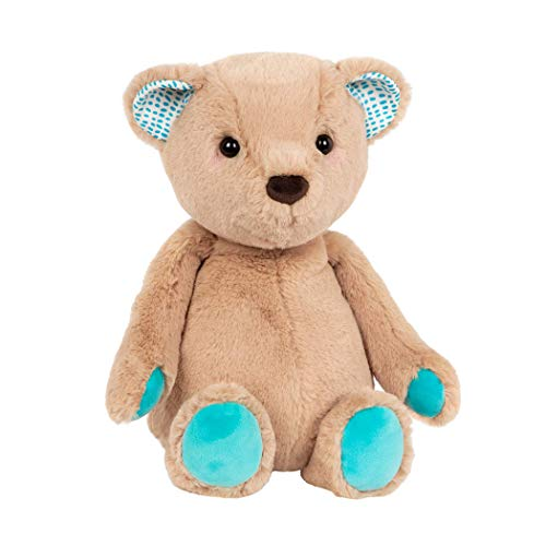 B. toys by Battat Happy Hues – Cara-Mellow Bear – Soft & Cuddly Plush Teddy Bear – Huggable Stuffed Animal Bear Toy – Washable – Newborns, Toddlers, Kids, Multi (BX1785C30Z)