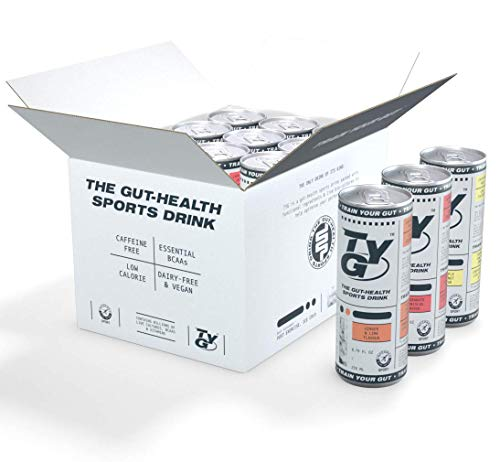 TYG Probiotic Sports Energy Drink – Healthy, Gut-Friendly, Low Calorie, BCAAs, No Artificial Sweeteners - 250ml x 12 Drinks (Variety Case)