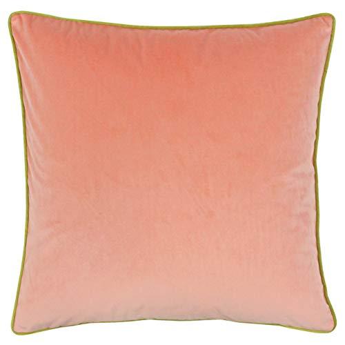 Paoletti Meridian 55X55 Poly CUSH PEA/Och, Pfirsich-Rosa/Ocker Gelb, 55x55cm