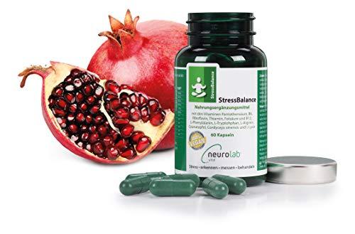 StressBalance Kapseln Neurolab Vital: Nahrungsergänzung – Anti-Stress Kapseln –für gute Nerven – StressBalance – Stressbewältigung