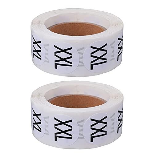 Etiqueta autoadhesiva del tamaño de la ropa de 2 rollos etiqueta engomada multifuncional del tamaño
