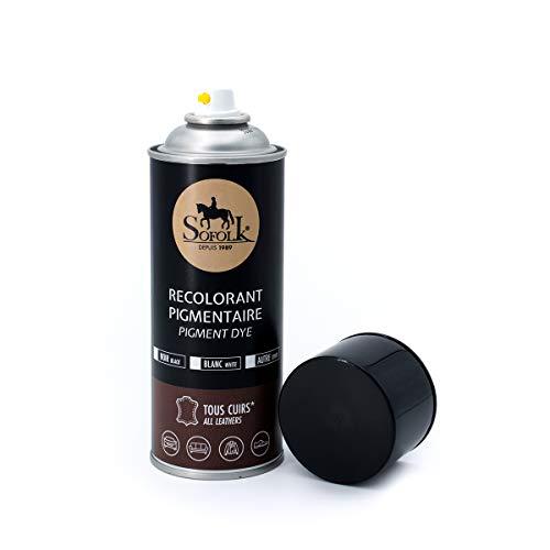 SOFOLK Peinture Cuir pour canapé, siège Auto, Chaussures, Vestes - AÉROSOL 400ml (Noir)