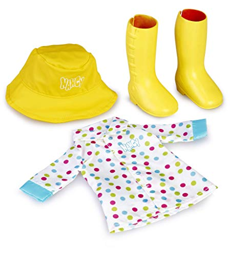 Nancy - Un día de lluvia, Set de ropita para días de lluvia, para niños y niñas a partir de 3 años - (Famosa 700015716)