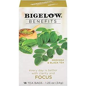 Bigelow Benefits Moringa & Black Tea Bags, 18 Count Box (Pack of 6), Caffeinated Black Tea 108 Tea Bags Total by AmazonUs/RCBC9