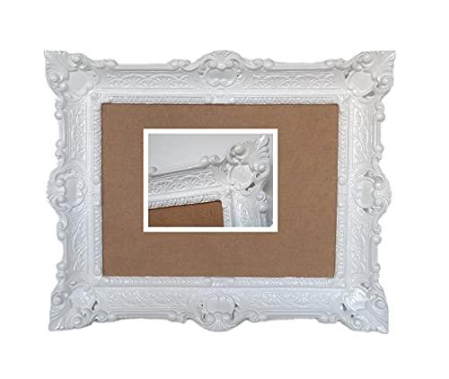 Lnxp ANTIK BAROCK BILDERRAHMEN in Weiß 56x46cm RECHTECKIG REPRO Bilder für 30x40cm oder 40x30 cm BAROCKRAHMEN Bilder