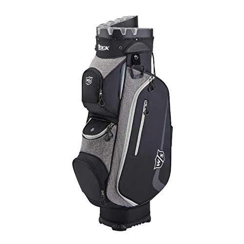 Wilson Staff Golftasche, I LOCK III Cart Bag, Trolleytasche, Für bis zu 9 Eisen, Schwarz/Grau/Weiß, 3,2 kg, WGB4330BL