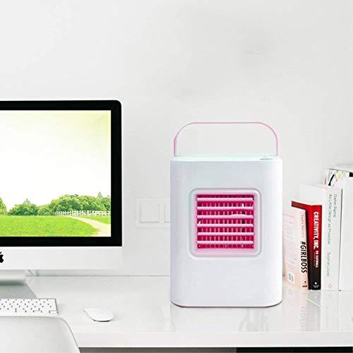 Ventilador de Aire Acondicionado de Aire frío Individual portátil Compacto Personal, enfriadores evaporativos con deshumidificador y Ventilador de Aire silencioso sin aspas