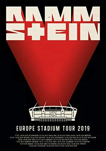 Posterbeatnik Rammstein Poster Europe Stadium Tour 2019 Europa STADIONTOUR